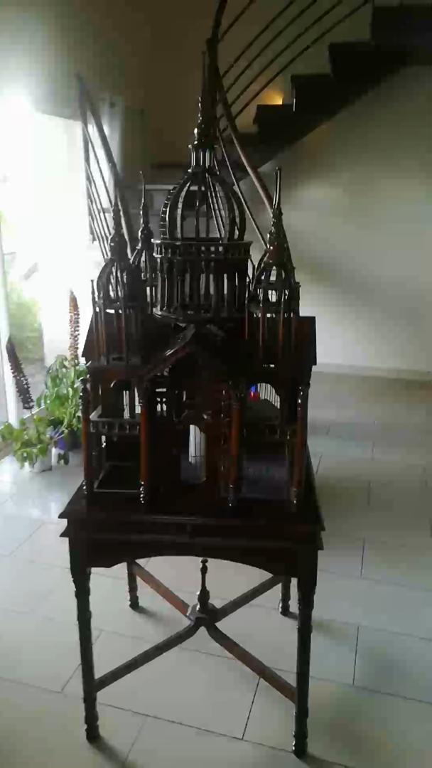 Cage oiseaux antique